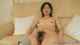 Assplug lover Junko Konno getting her asshole fucked with a dildo and giving blowjob at a time Thumbnail